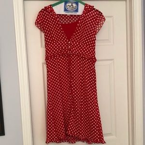 Amy Byer Red w/White Polka Dot Dress Kids Size 16
